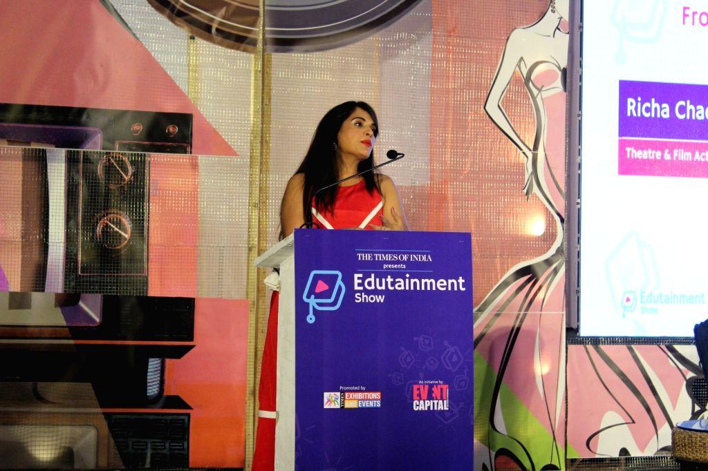 Actress Richa Chadda during 5th edition of The Edutainment Show 2017 in Mumbai on May 20, 2017. - Richa Chadda