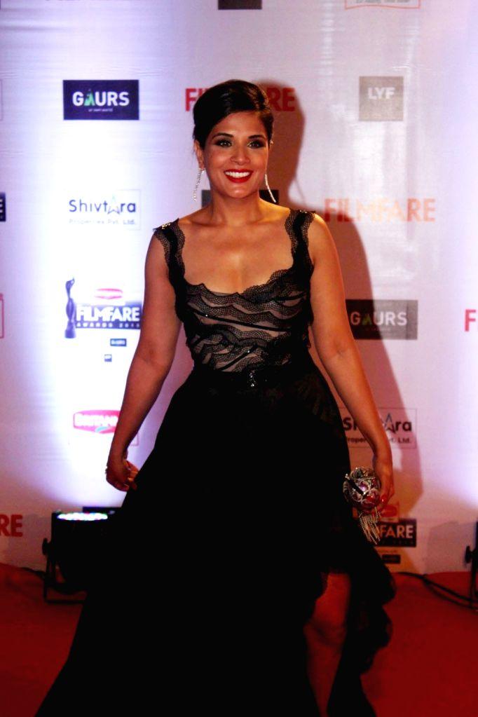 Actress Richa Chadda during the 61st Britannia Filmfare Awards in Mumbai on January 15, 2016. - Richa Chadda