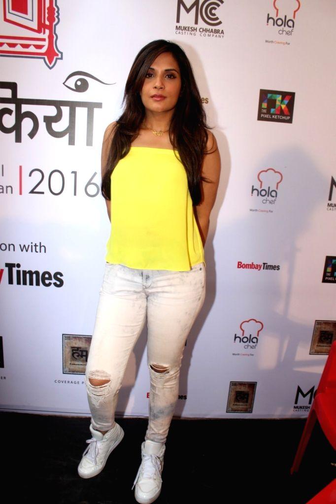 Actress Richa Chadda during the inauguration of `Khidkiyan` Theater Festival in Mumbai on Jan 14, 2016. - Richa Chadda