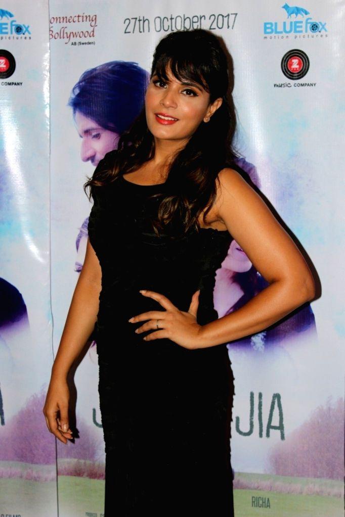"""Actress Richa Chadda during the promotiona of her upcoming film """"Jia Aur Jia"""" in Mumbai on Oct 12, 2017. - Richa Chadda"""