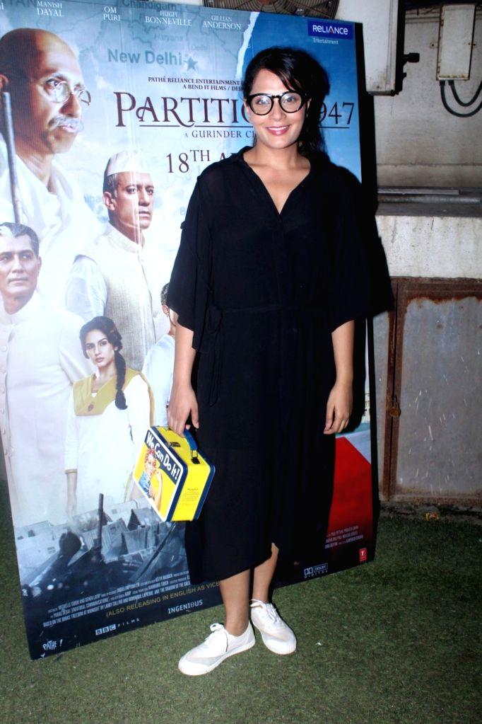 """Actress Richa Chadda during the special screening of film """"Partition: 1947"""" in Mumbai on Aug 17, 2017. - Richa Chadda"""