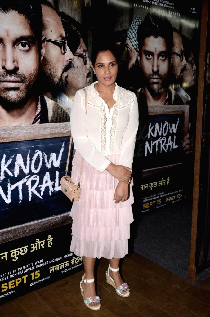 "Actress Richa Chadda during the special screening of upcoming film ""Lucknow Central"" in Mumbai on Sept 10, 2017 - Richa Chadda"