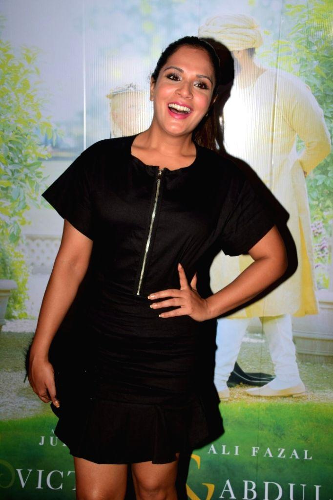 "Actress Richa Chadda during the special screening of film ""Victoria & Abdul"" in Mumbai on Oct 5, 2017. - Richa Chadda"
