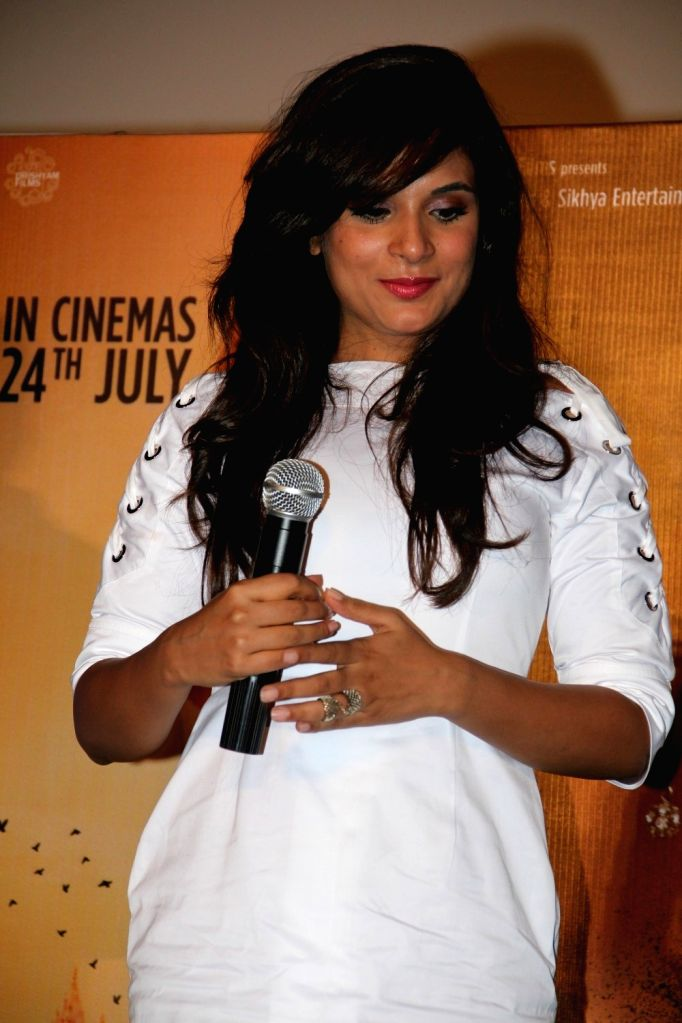 Actress Richa Chadda during the trailer launch of film Masaan in Mumbai on June 26, 2015. - Richa Chadda