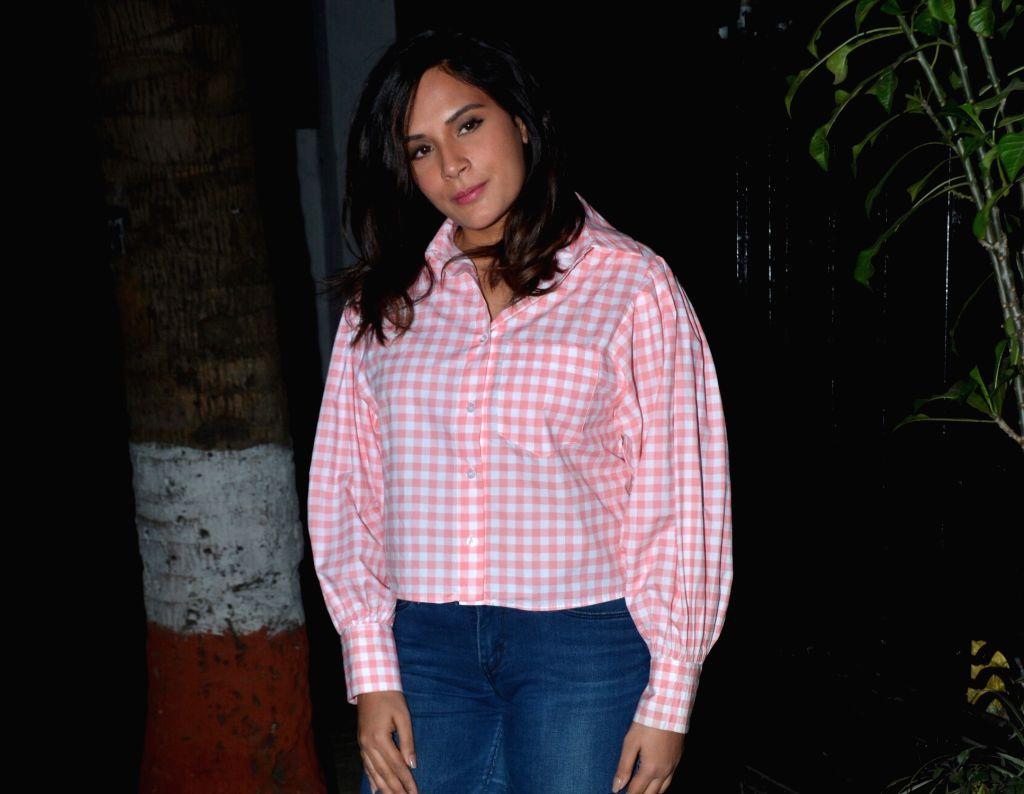 Actress Richa Chadda seen at Mumbai's Juhu, on Jan 29, 2019. - Richa Chadda