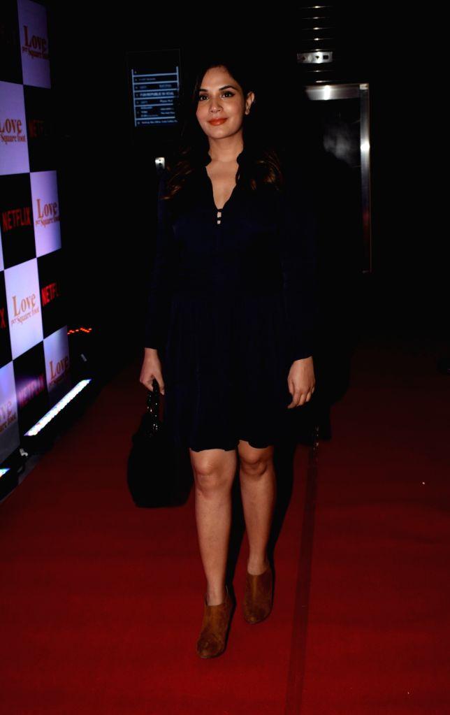 "Actress Richa Chadha at the screening of film ""Love Per Square Foot"" in Mumbai on Feb 11, 2018. - Richa Chadha"