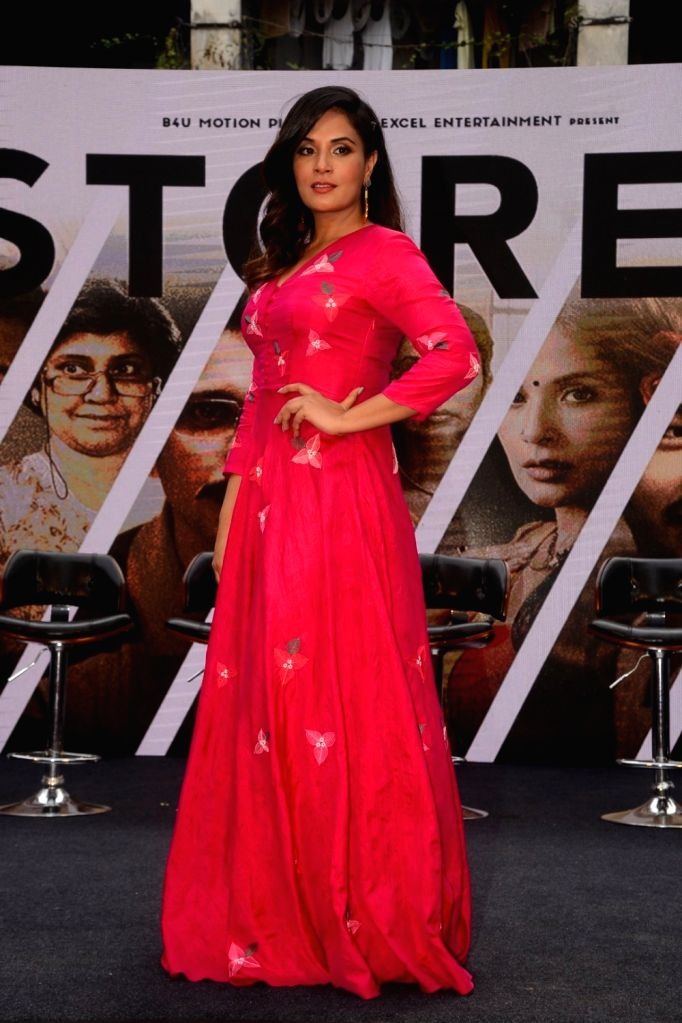 "Actress Richa Chadha at the trailer launch of her upcoming film ""3 Storeys"" in Mumbai on Feb 7, 2018. - Richa Chadha"