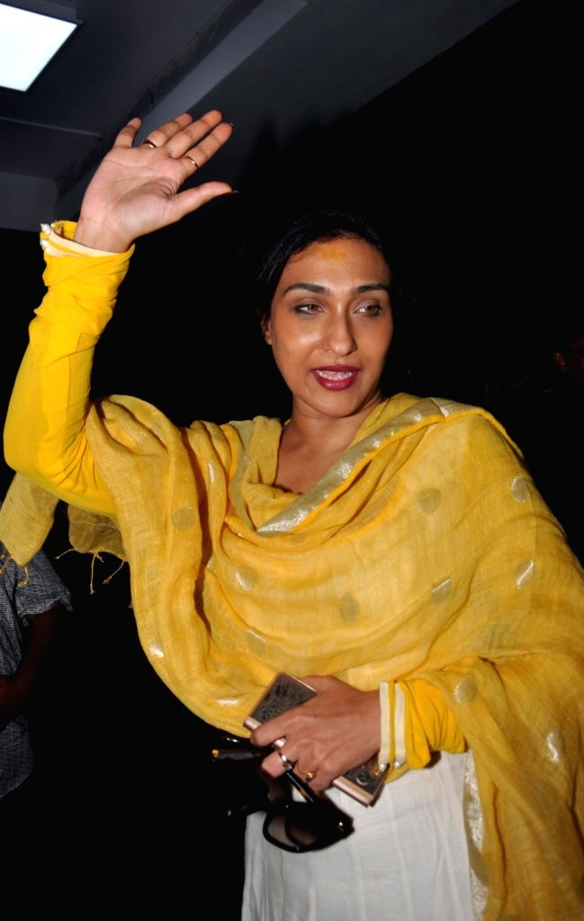 Actress Rituparna Sengupta appears before Enforcement Directorate (ED) in connection with  Rose Valley chit fund case at CGO Complex in Kolkata on July 18. - Rituparna Sengupta