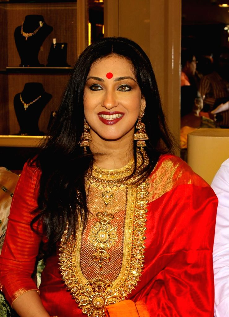 Actress Rituparna Sengupta during a promotional programme in K0lkata on Feb 12, 2018. - Rituparna Sengupta
