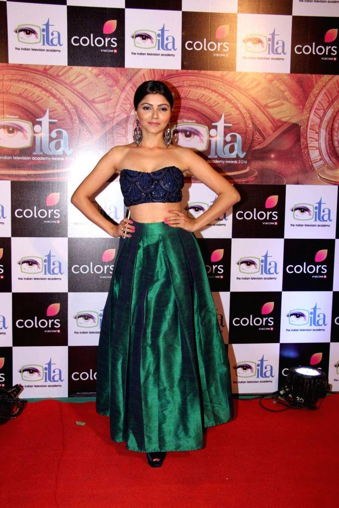 Actress Rubina Dilaik during the 16th Indian Television Academy (ITA) Awards 2016 in Mumbai on Nov 13, 2016. - Rubina Dilaik