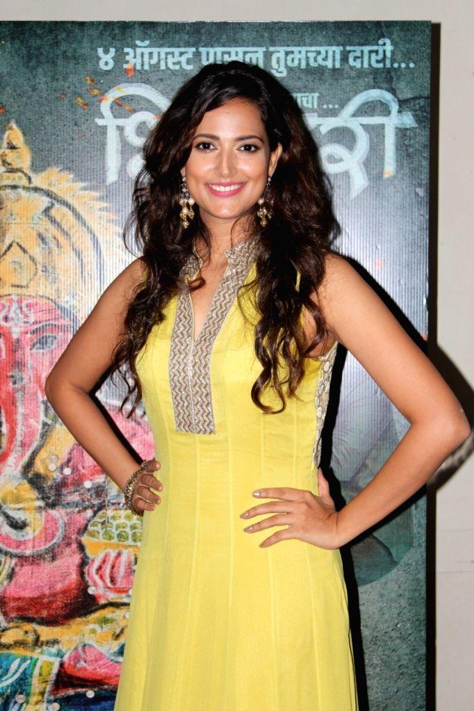 """Actress Rucha Inamdar at the launch of ''Maagu Kasa'' - a song from upcoming film """"Bhikari"""" in Mumbai, on July 5, 2017. - Rucha Inamdar"""