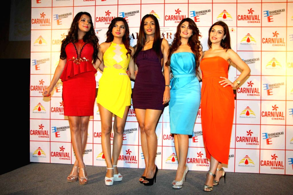 Actress Ruhi Singh, Avani Modi, Satarupa Pyne, Kyra Dutt, Akanksha Puri during the trailer launch of film Calendar Girls in Mumbai, on Aug 18, 2015. - Ruhi Singh, Avani Modi and Kyra Dutt
