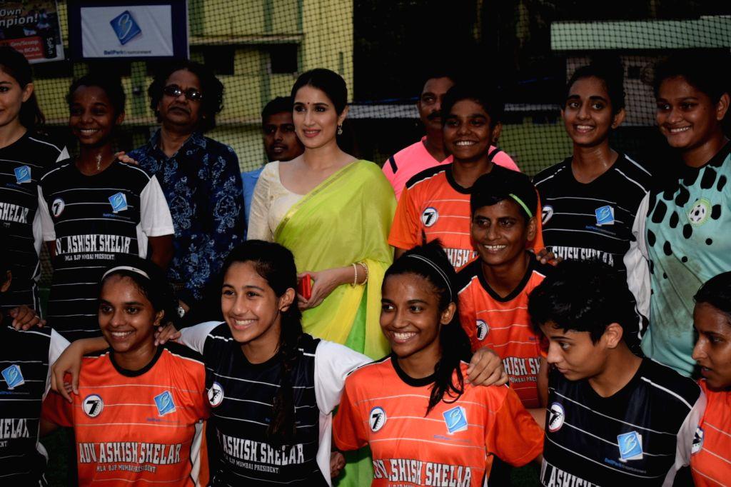 Actress Sagarika Ghatge at the Women's Football League in Mumbai on May 13, 2018. - Sagarika Ghatge