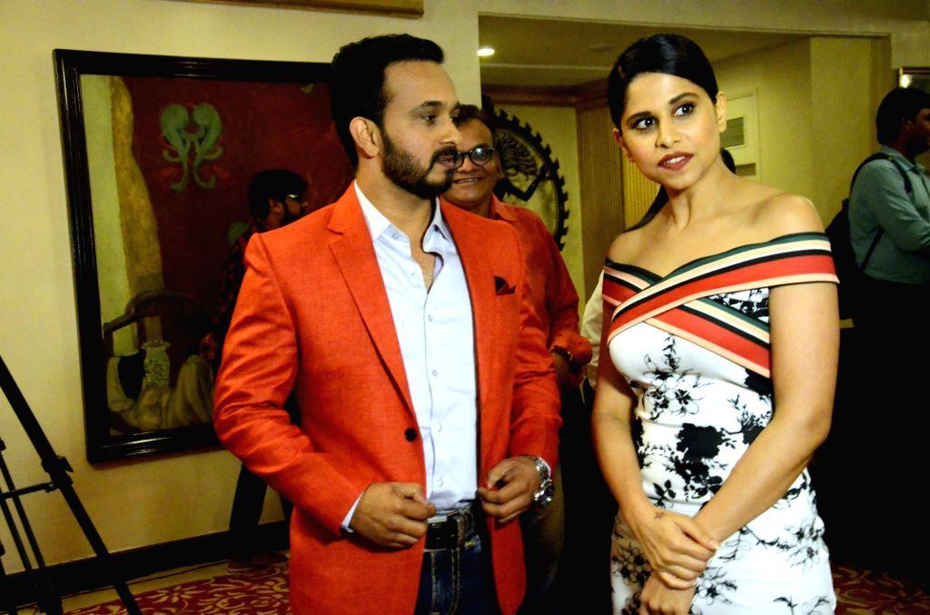 Actress Sai Tamhankar during a programme organised to launch an app in Mumbai on July 20, 2018. - Sai Tamhankar