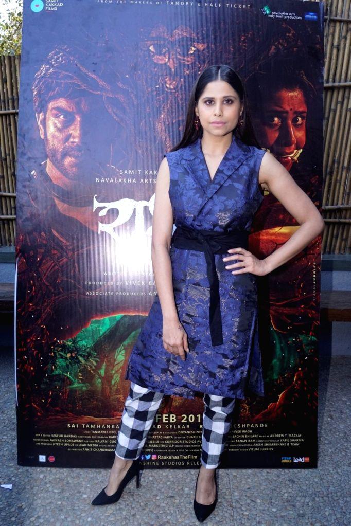 "Actress Sai Tamhankar during an interview for her upcoming film ""Rakshas"" in Mumbai on Feb 12, 2018. - Sai Tamhankar"