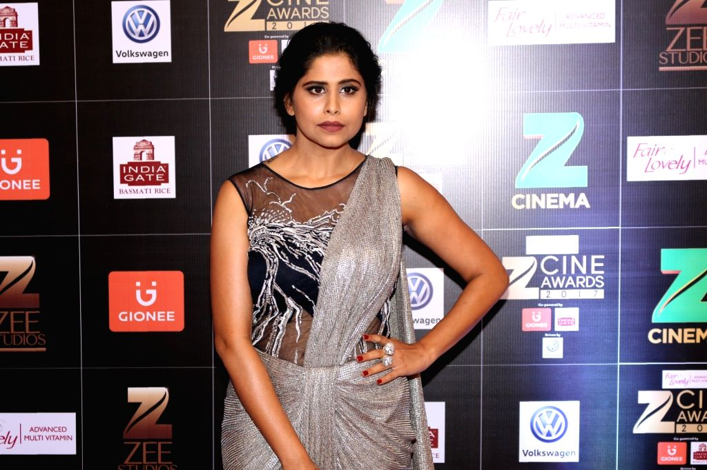 Actress Sai Tamhankar during the Fair & Lovely Zee Cine Awards 2017 in Mumbai on March 11, 2017. - Sai Tamhankar