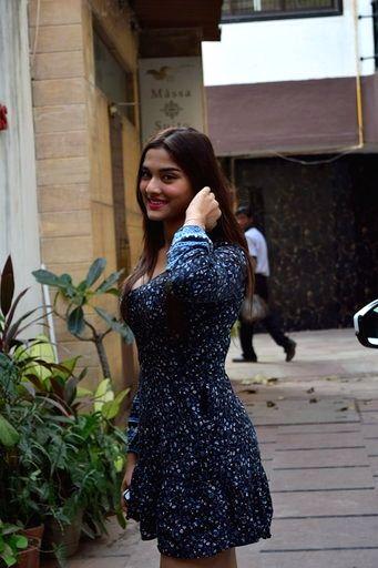 Actress Saiee Manjrekar seen at Juhu in Mumbai on March 16, 2020. - Saiee Manjrekar