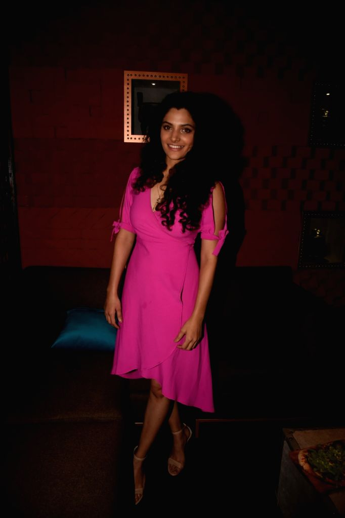 Actress Saiyami Kher at producer Tanuj Garg's birthday party in Mumbai on Dec 5, 2017. - Saiyami Kher