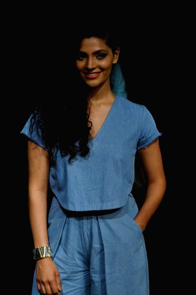 Actress Saiyami Kher during the Lakme Fashion Week 2017 in Mumbai on Aug 16, 2017. - Saiyami Kher