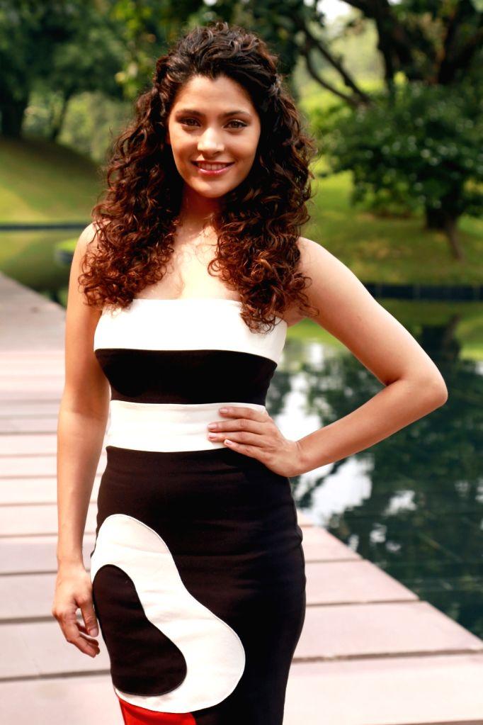 Actress Saiyami Kher during the promotion of her upcoming film 'Mirzya' in New Delhi on Oct 4, 2016. - Saiyami Kher