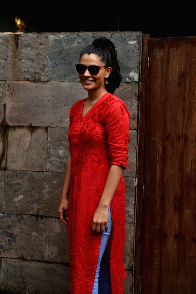 Actress Saiyami Kher seen at Bandra in Mumbai, on June 18, 2019. - Saiyami Kher