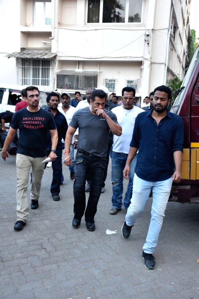 "Actress Salman Khan during a promotion of his upcoming film ""Bharat"", in Mumbai, on May 20, 2019. - Salman Khan"