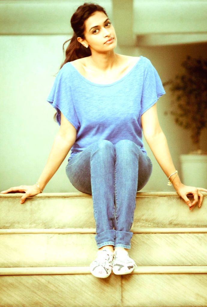 Actress Salony Luthra during a photo shoot.
