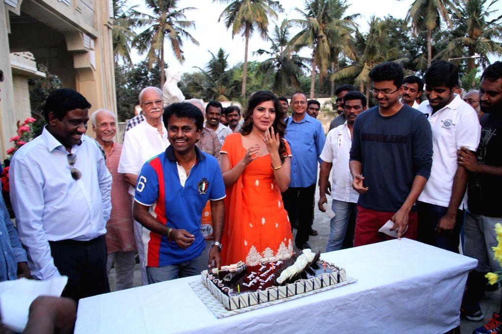 Actress Samantha Ruth Prabhu during her birthday celebrations.