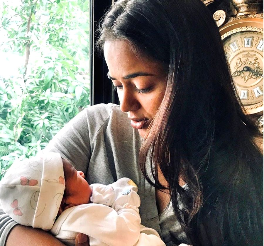 Actress Sameera Reddy who welcomed her second baby recently says she prayed for a baby girl. Sameera on Monday shared a glimpse of the new-born on Instagram. In the image, she is seen cradling the ... - Sameera Reddy