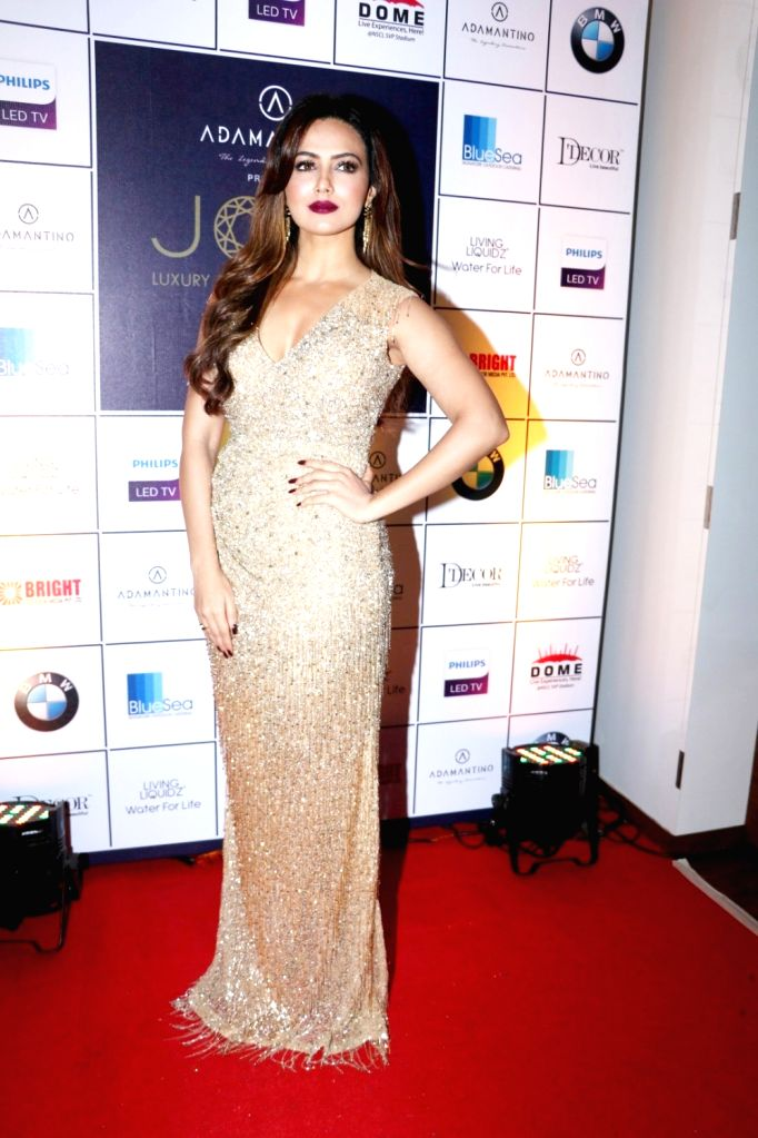 Actress Sana Khan during the announcement of Cineyug's first edition of luxury and lifestyle exhibition Joya curated by Yasmin Morani and Priyanka Soorma, in Mumbai, on Aug. 8, 2016. - Sana Khan