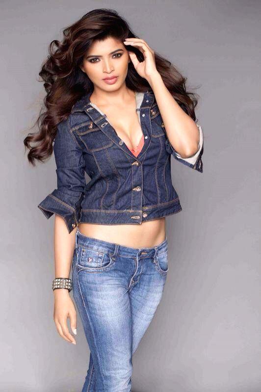 Actress Sanchita Shetty poses for a photograph during a photo shoot.
