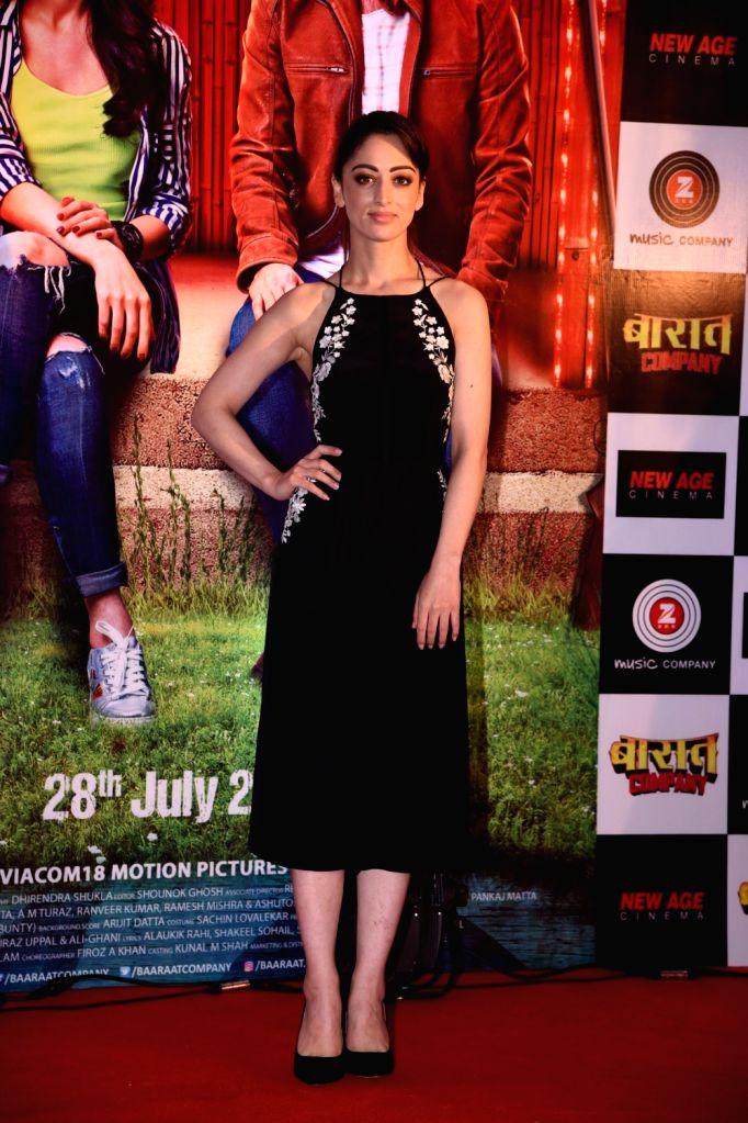"Actress Sandeepa Dhar during the promotion of the film ""Baaraat Company"" in Mumbai on July 5, 2017. - Sandeepa Dhar"