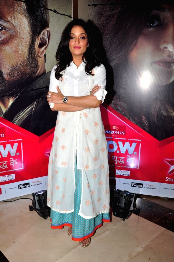Actress Sandhya Mridul during the press conference of Star Plus TV serial P.O.W.- Bandi Yuddh Ke in Mumbai on Oct. 8, 2016. - Sandhya Mridul