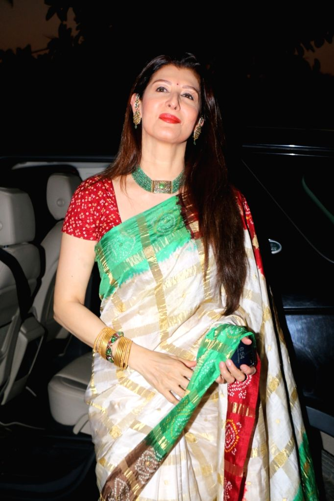 Actress Sangeeta Bijlani during Maha Shivratri Puja in Mumbai on Feb 13, 2018. - Sangeeta Bijlani