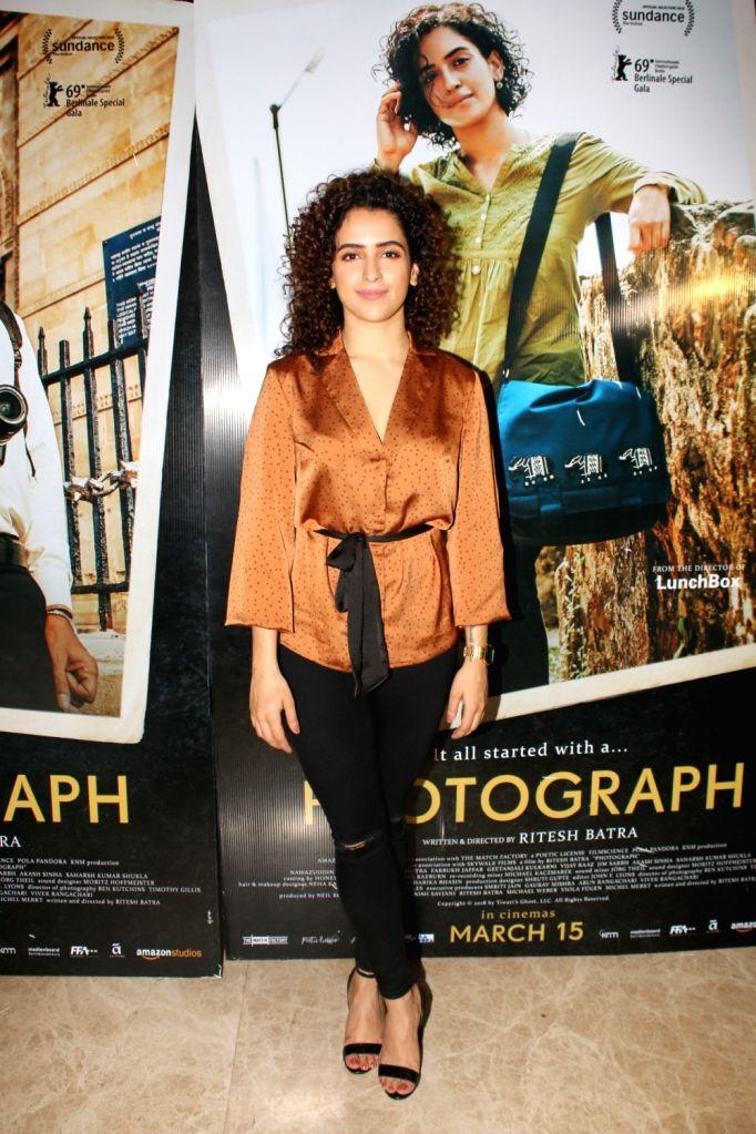 "Actress Sania Malhotra at the trailer launch of her upcoming film ""Photograph"" in Mumbai on Feb 18, 2019. - Sania Malhotra"