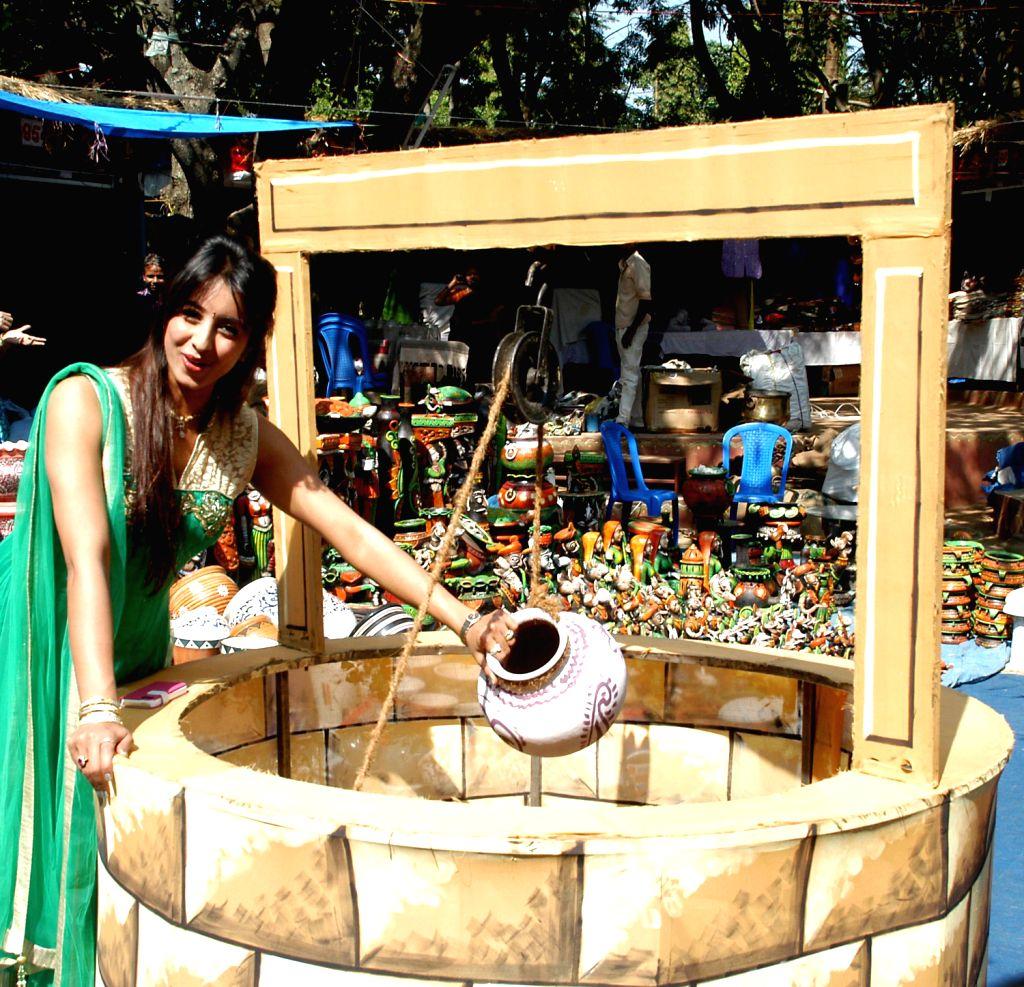 Actress Sanjana at the inauguration of Orissa Arts and Handicrafts Mela at Chitrakala Parishath in Bangalore on Dec.20, 2013.