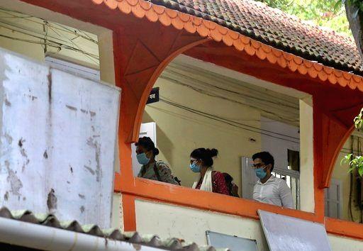 Actress Sanjana Sanghi arrives at the Bandra Police station in Mumbai on June 30, 2020. - Sanjana Sanghi