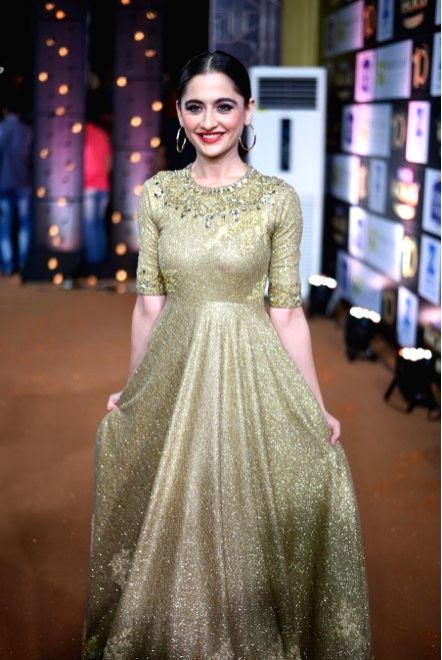 Actress  Sanjeeda Sheikh during the 10th Gold Awards 2017 in Mumbai on July 5, 2017. - Sanjeeda Sheikh