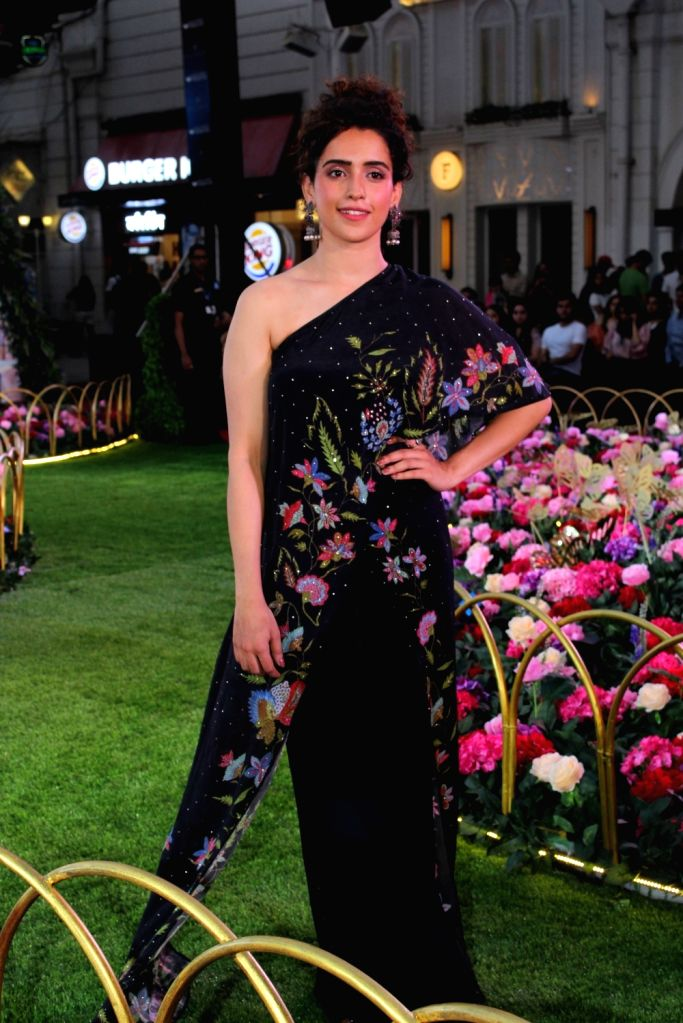 Actress Sanya Malhotra at a fashion event in Mumbai, on April 26, 2019. - Sanya Malhotra
