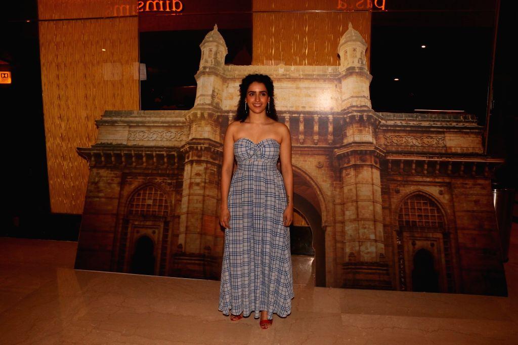 "Actress Sanya Malhotra during a programme organsied to launch ""Tumne Mujhe Dekha"" - a song from upcoming film ""Photograph"" in Mumbai on March 9, 2019. - Sanya Malhotra"