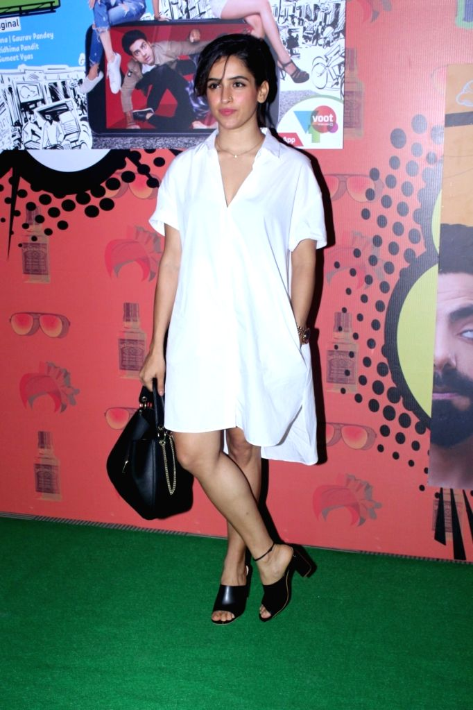 "Actress Sanya Malhotra during the special screening of  web-series ""Yo Ke Hua Bro"" in Mumbai on Aug 16, 2017. - Sanya Malhotra"