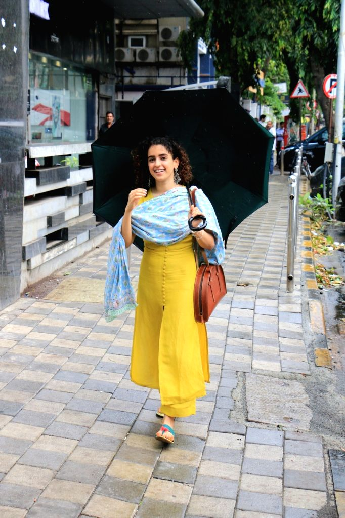 Actress Sanya Malhotra seen at Juhu, in Mumbai on June 12, 2019. - Sanya Malhotra