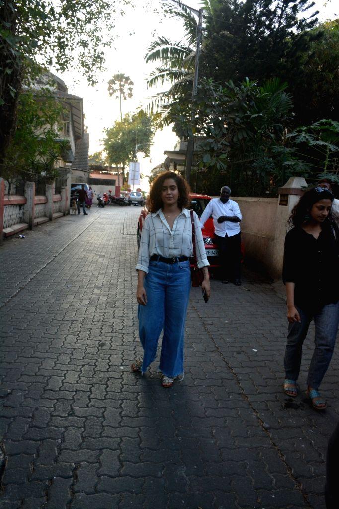 Actress Sanya Malhotra seen at Mumbai's Bandra on Dec 12, 2018. - Sanya Malhotra