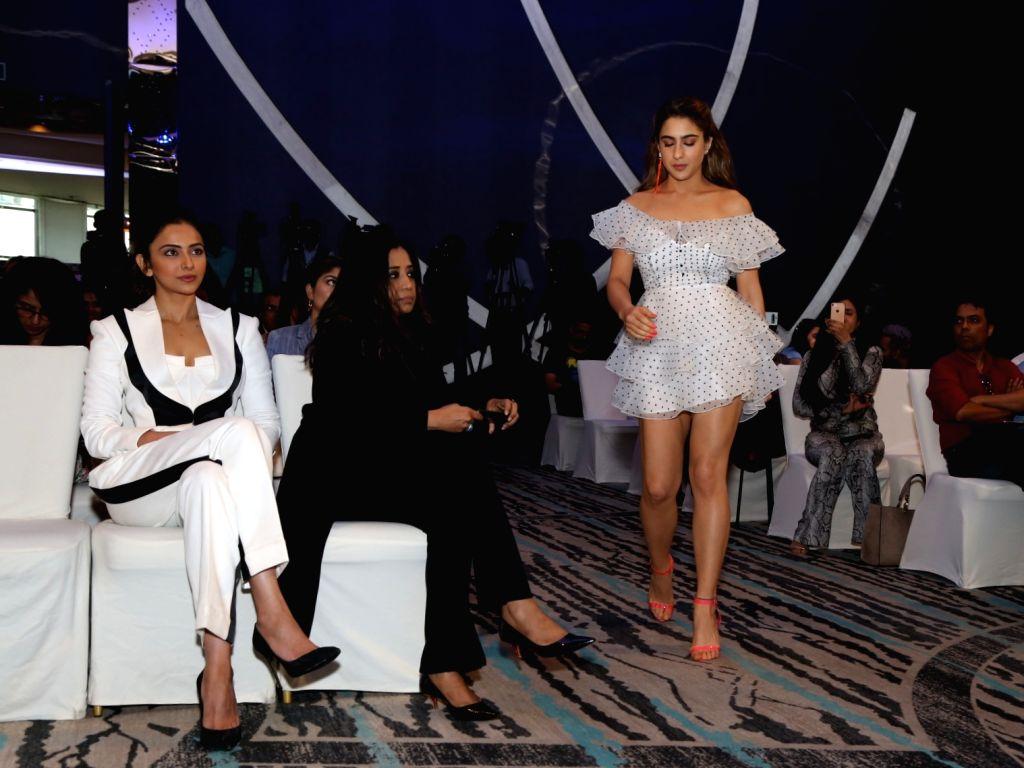 Actress Sara Ali Khan at IIFA Awards 2019 Press Conference in New Delhi on Oct 18, 2019. - Sara Ali Khan