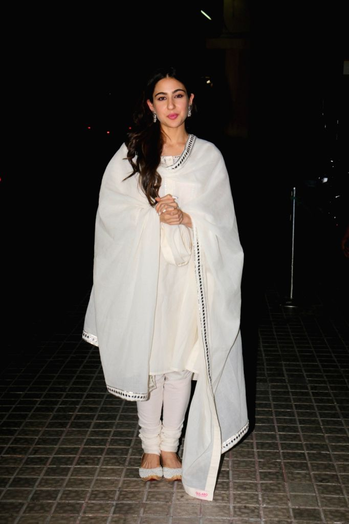 "Actress Sara Ali Khan at the screening of her upcoming film ""Kedarnath"" in Mumbai on Dec 5, 2018. - Sara Ali Khan"