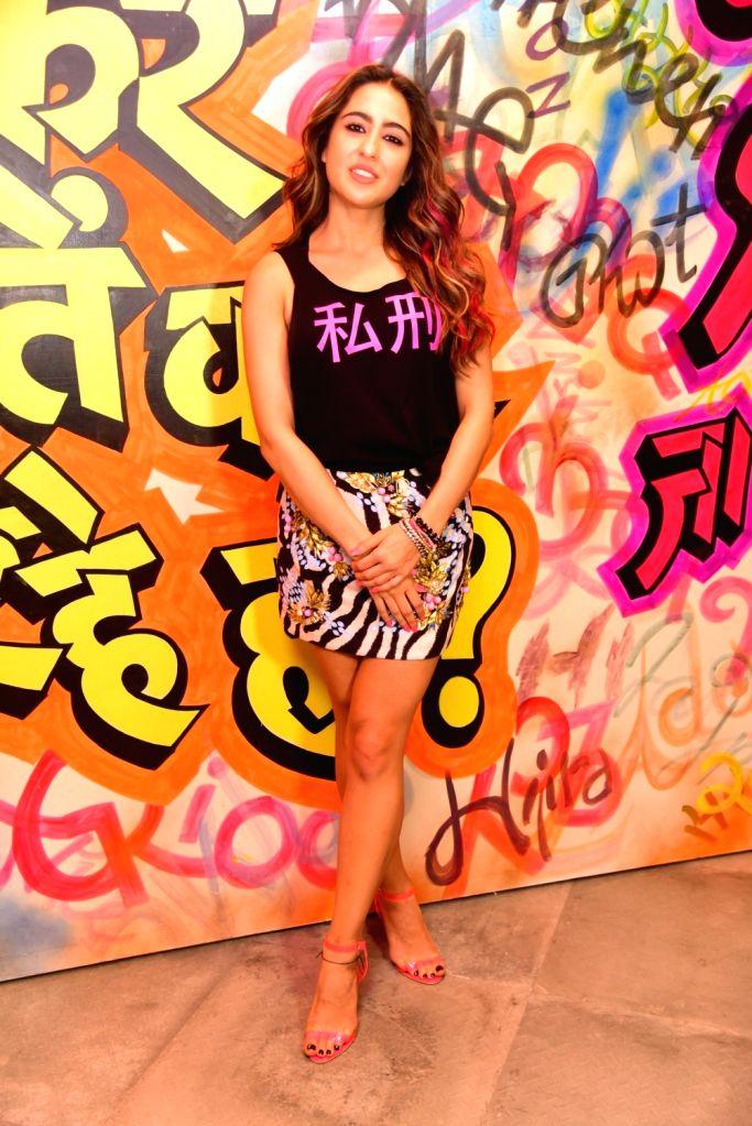 "Actress Sara Ali Khan during the promotions of upcoming film ""Love Aaj Kal 2"", in Mumbai on Feb 9, 2020. - Sara Ali Khan"