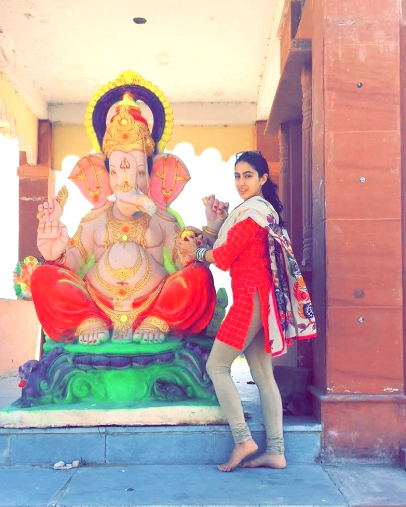 Actress Sara Ali Khan has been attacked on religious ground after she shared a photograph celebrating Ganesh Chaturthi, one even went to the extent of asking for the invocation of fatwa against her. - Sara Ali Khan