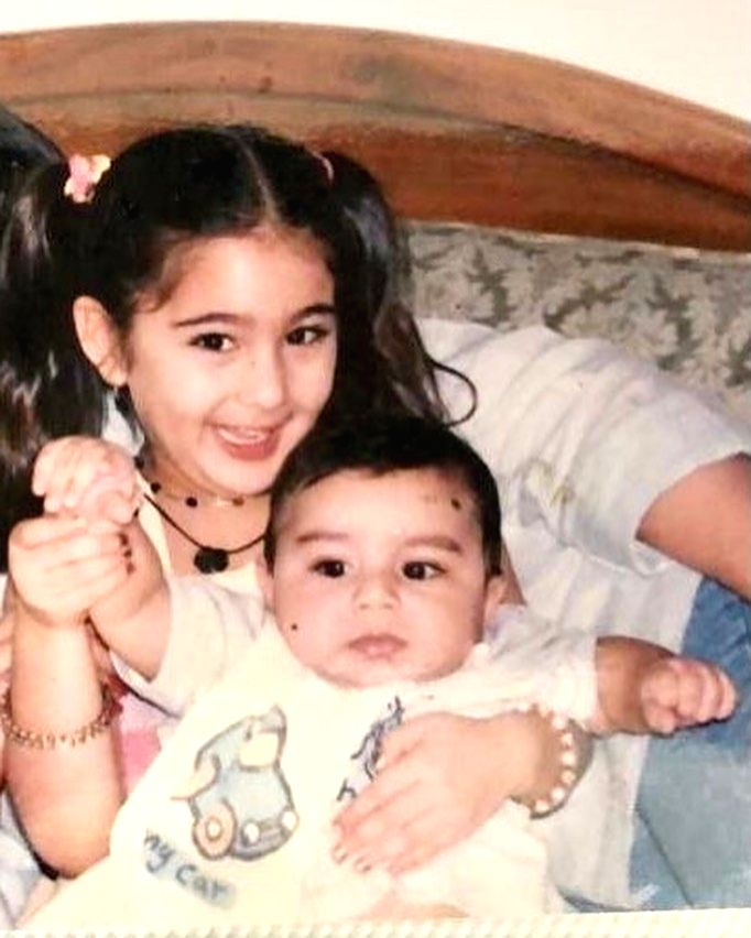 Actress Sara Ali Khan on the occasion of her brother Ibrahim Ali Khan's birthday on Friday has penned a hilarious note. She calls him Iggy Potter. (Instagram) - Sara Ali Khan
