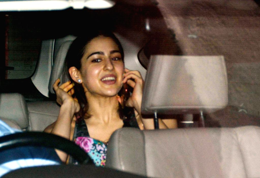 Actress Sara Ali Khan seen at a gym in Khar, Mumbai on Aug 8, 2018. - Sara Ali Khan