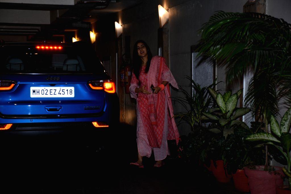 Actress Sara Ali Khan seen outside her brother-actor Saif Ali Khan's house in Mumbai's Bandra, on May 27, 2019. - Sara Ali Khan and Saif Ali Khan